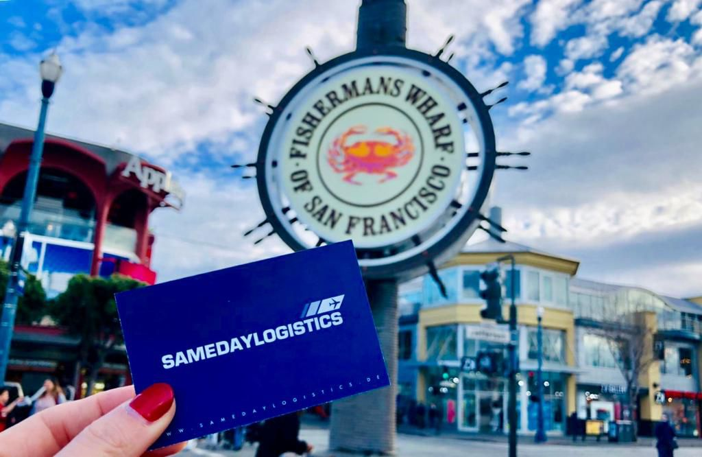 Samedaylogistic am Fisherman`s Wharf in San Francisco